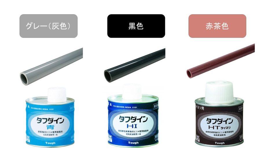 塩ビ管の種類と用途